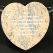 Coeur gravé en granit