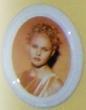 Photo funéraire porcelaine sépia