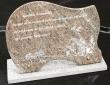 Plaque funéraire gravée en granit (Modèle 2)