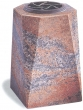 Vase funéraire carré en granit dur
