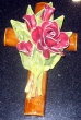 Croix en majolique